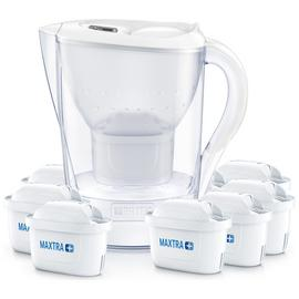 Brita Marella Jug & 8 Cartridges - White