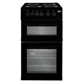 Beko KD533AK 50cm Twin Cavity Electric Cooker