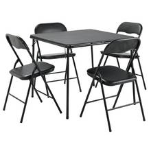 HOME Quin Metal Folding Table 4 Chairs