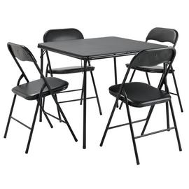Argos Home Quin Metal Folding Table & 4 Folding Chairs