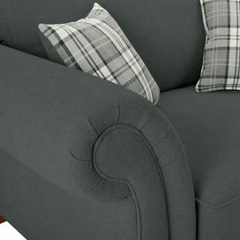 Argos Home New Windsor Fabric Cuddle Chair - Charcoal