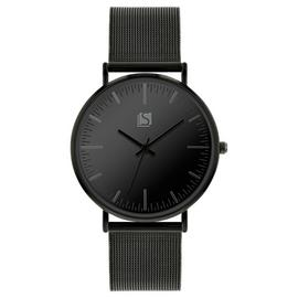 Spirit Men's Black Mesh Metal Bracelet Watch