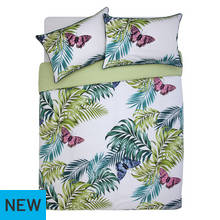 Argos Home Palmhouse Leaf Butterfly Bedding Set - Kingsize