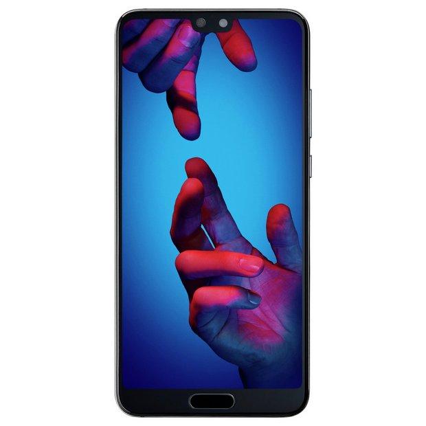 Buy SIM Free Huawei P20 128GB Mobile Phone - Black | SIM free phones | Argos