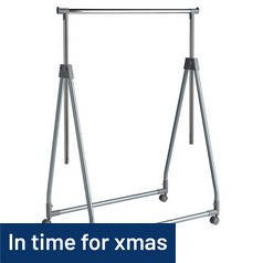 Argos Home Foldable Clothes Rail - Chrome