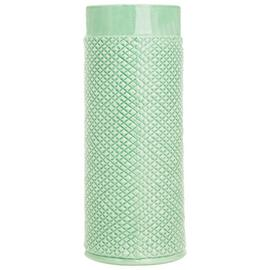 Sainsbury's Home Embossed Large Ceramic Vase - Green