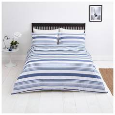 Sainsbury's Home Riviera Seersucker Bedding Set – Double