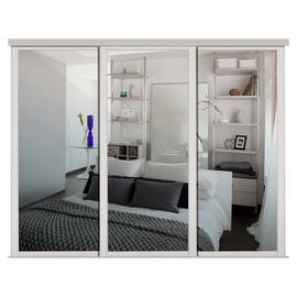 Shaker Sliding Doors and track W168 Cashmere Frame Mirror