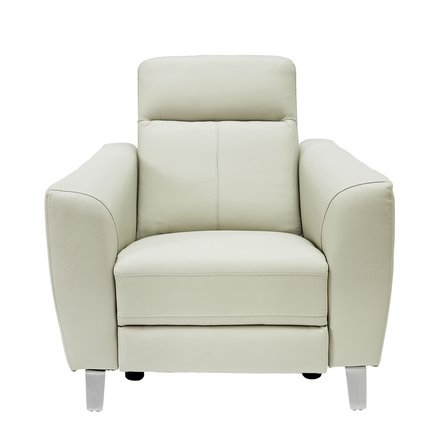 Buy Argos Home Wyatt Leather Power Recliner Chair Pearl | Armchairs and chairs | Argos