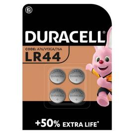 Duracell LR44 Alkaline Button Battery (76A) - Pack of 4