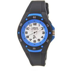 Lorus Kids' Navy Blue Silicone Strap Bezel Watch