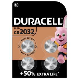 Duracell 2032 Lithium Coin Battery (CR2032) - Pack of 4