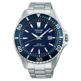 Pulsar Men's Diver Style Silver Stainless Steel Strap Watch
