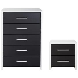 Argos Home Broadway Bedside Table & 5 Drawer Chest Set