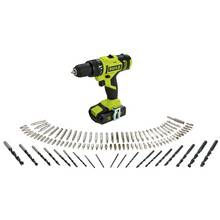 Guild 1.5Ah Cordless Combi Drill with 100 Accessories - 18V