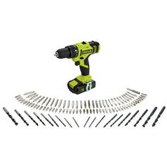 Guild Combi Drill with 100 Piece Accessory Set - 18V