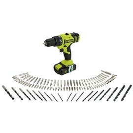 Guild 1.5Ah Cordless Hammer Drill with 100 Accessories - 18V