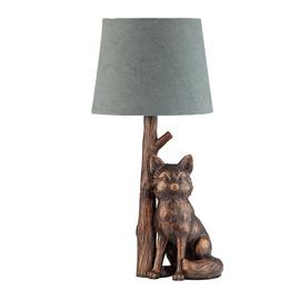 Argos Home Fox Table Lamp - Bronze & Grey