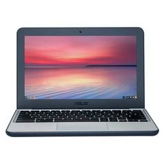 Asus C202 11.6 Inch Celeron 2GB 16GB Chromebook - Blue/White
