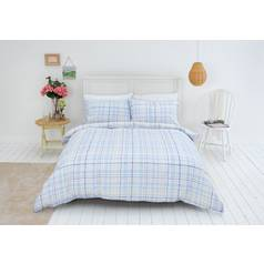 Sainsbury's Home Meadow Check Bedding Set - Kingsize