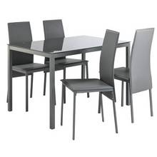 Hygena Lido Glass Table 4 Chairs