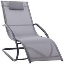 Wave Lounger- Grey on Matte Black