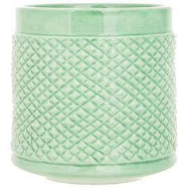 Sainsbury's Home Textured Ceramic Vase - Green