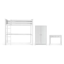 Argos Home Brooklyn White 3 Piece High Sleeper Package