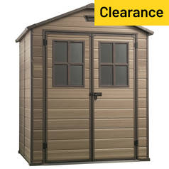 Keter Scala Plastic Garden Shed - 6 x 5ft Best Price, Cheapest Prices