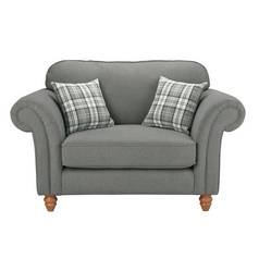 Argos Home Windsor Fabric Cuddle Chair - Light Grey