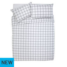 Argos Home Newstalgia Grid Bedding Set - Kingsize