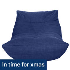Hygena Fabric Lounger Chair - Navy