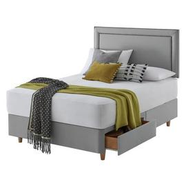 Silentnight Toulouse Grey Divan Bed - Superking