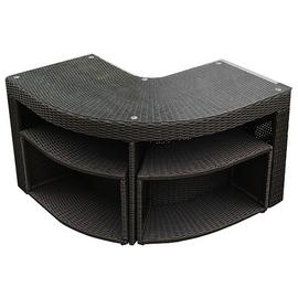 Canadian Spa Company Corner Bar Set Square Surround Funiture