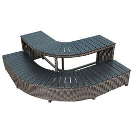 Canadian Spa Company Corner Steps Square Surround Furniture