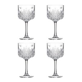 Argos Home Set of 4 Pressed Glass Gin Glasses