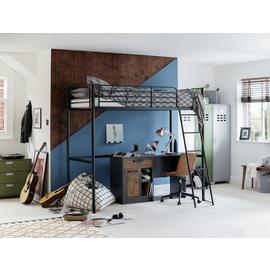 Argos Home Riley High Sleeper Metal Bed Frame - Black