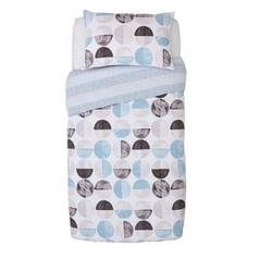 Argos Home Blue Circles Bedding Set - Single