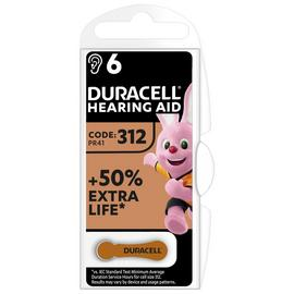 Duracell Hearing Aid 312 Batteries - 6 Pack