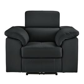 Argos Home Valencia Leather Power Recliner Chair - Black