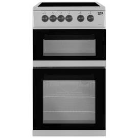 Beko KDC5422AS 50cm Twin Cavity Electric Cooker - Silver