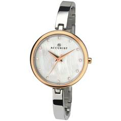 Accurist Ladies' Mother of Pearl Dial Two Tone Watch