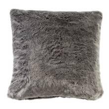 Argos Home Faux Fur Cushion - Grey