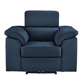Argos Home Valencia Leather Power Recliner Chair - Blue
