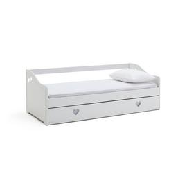 Argos Home Mia White Day Bed, Trundle & 2 Kids Mattresses