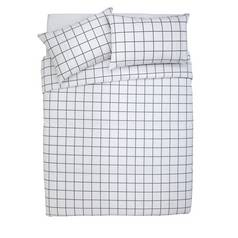 Argos Home Newstalgia Grid Bedding Set - Double