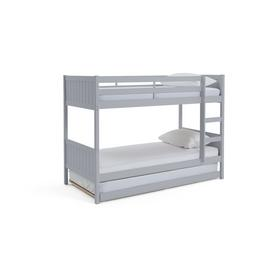 Argos Home Detachable Grey Bunk Bed Frame with Trundle