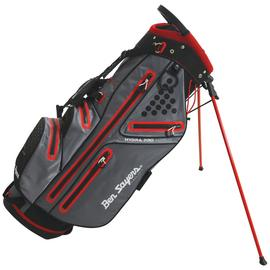 Ben Sayers Waterproof Stand Bag - Grey & Red