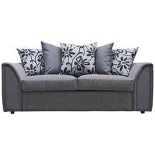 Argos Home Dallas Compact 3 Seat Faux Leather Sofa -Charcoal
