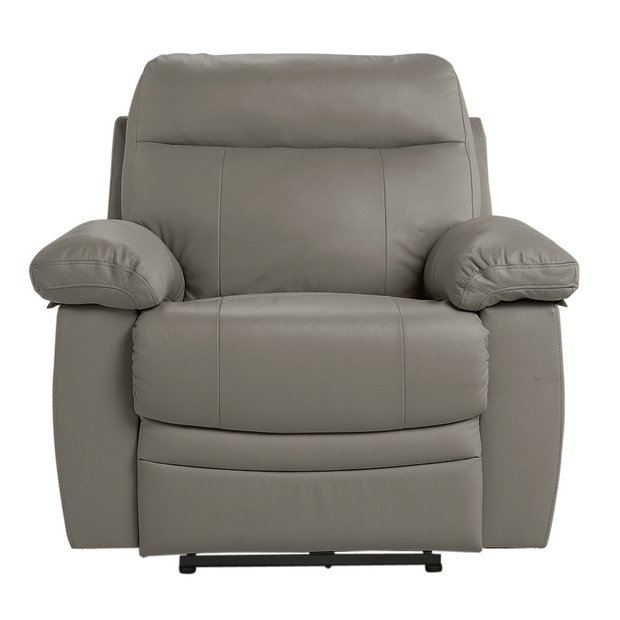 Buy Argos Home Paolo Faux Leather Power Recliner Chair Grey